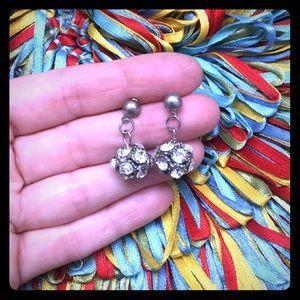 Jewelry - Rhinestone bling ball earrings
